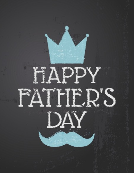 Chalkboard design greeting card for Father's day.