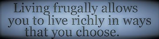 Frugal Saying (3)